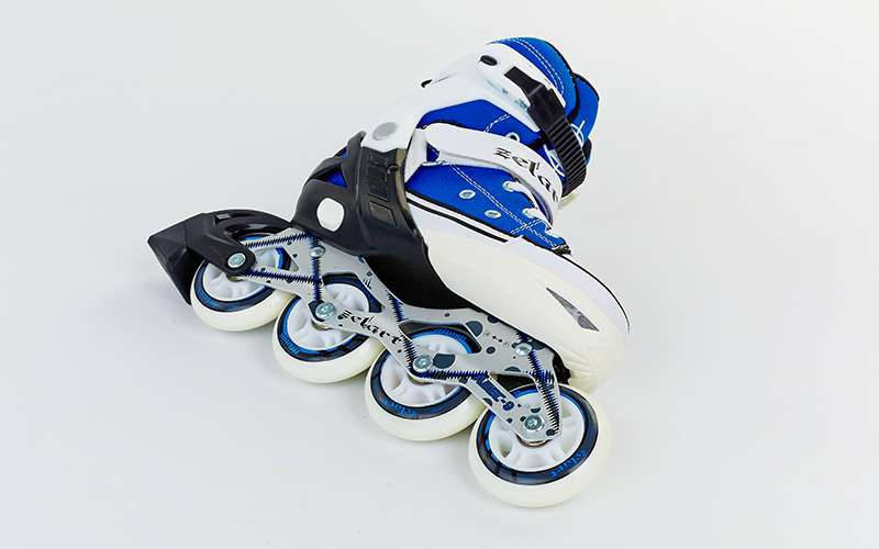 Роликовые коньки раздвижные Zelart размер 34-41 синий-белый