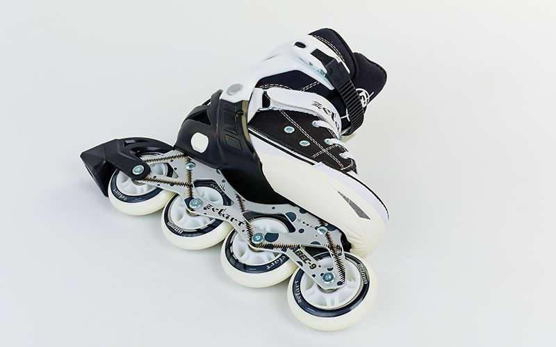 Роликовые коньки раздвижные Zelart размер 34-41 черный-белый