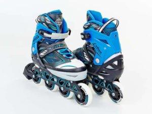 Роликовые коньки раздвижные Zelart FOLIAGE размер 35-42 синий - 35-38