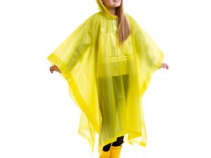 Дождевик детский Пончо многоразовый (EVA, рост 120-160см, цвета в ассортименте) - Цвет Желтый