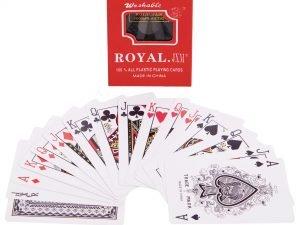 Игральные карты пластиковые (колода в 54 листа, толщина-0,25мм)