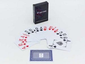 Игральные карты пластиковые POKER CLUB (колода в 54 листа, толщина-0,32мм)