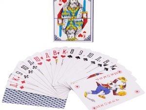 Игральные карты с ламинированным покрытием (колода в 54 листа, толщина-0,3мм)