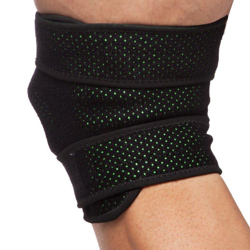 Наколенник (фиксатор коленного сустава) открывающийся с открытой колен.чашечкой (1шт) MUTE (неопрен, р-р регулируемый, черный)