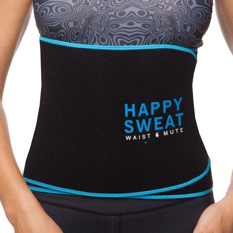 Пояс для похудения из композитной ткани MUTE  (р-р 22см x 105см, цвет пояса черный, кант розовый, голубой, черный, желтый)