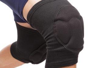 Наколенник волейбольный (2шт) MUTE (нейлон, резина, полиэстер, синий,черный) 9075 - Цвет Черный