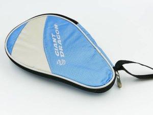 Чехол на ракетку для настольного тенниса GIANT DRAGON (полиэстер,р-р 28х2х18см,для 1-й ракетки, голубой-светло-серый)0981