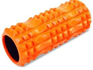Роллер для занятий йогой и пилатесом Grid Spine Roller l-33см (d-13см, l-33см, цвета в ассортименте) - Цвет Оранжевый