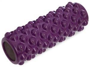 Роллер для занятий йогой и пилатесом Grid Bubble Roller l-36см (d-14см, l-36см, цвета в ассортименте) - Цвет Фиолетовый
