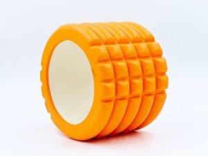 Роллер для занятий йогой и пилатесом Grid Roller Mini l-10см (d-14см, l-10см, цвета в ассортименте) - Цвет Оранжевый