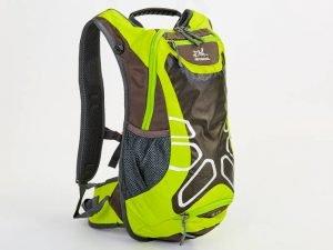 Рюкзак спортивный с жесткой спинкой (нейлон, р-р 29х17х42см, цвета в ассортименте) - Цвет Салатовый