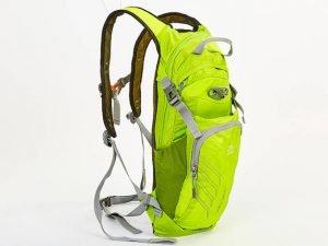 Рюкзак спортивный с жесткой спинкой (нейлон, р-р 22х5х48см,цвета в ассортименте ) - Цвет Салатовый