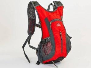 Рюкзак спортивный с жесткой спинкой (нейлон, р-р 31х8х43см,цвета в ассортименте ) - Цвет Красный