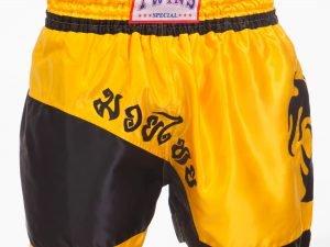 Шорты для тайского бокса и кикбоксинга SP-Planeta TWIN (полиэстер, р-р M-XL (46-52), цвета в ассортименте) - Желтый-L (48-50)