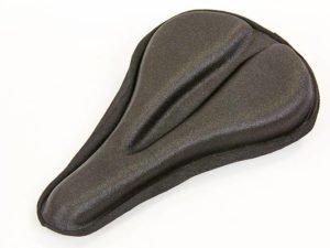 Чехол накладка на сиденье для велосипеда гелевая (черный)