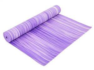 Коврик для фитнеса и йоги PVC 4мм SP-Planeta (размер 1,73мx0,61мx4мм, с принтом Полоса) - Цвет Фиолетовый