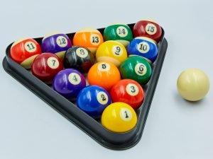 Шары для бильярда (d-57мм, в компл. 16 шаров, цветные)