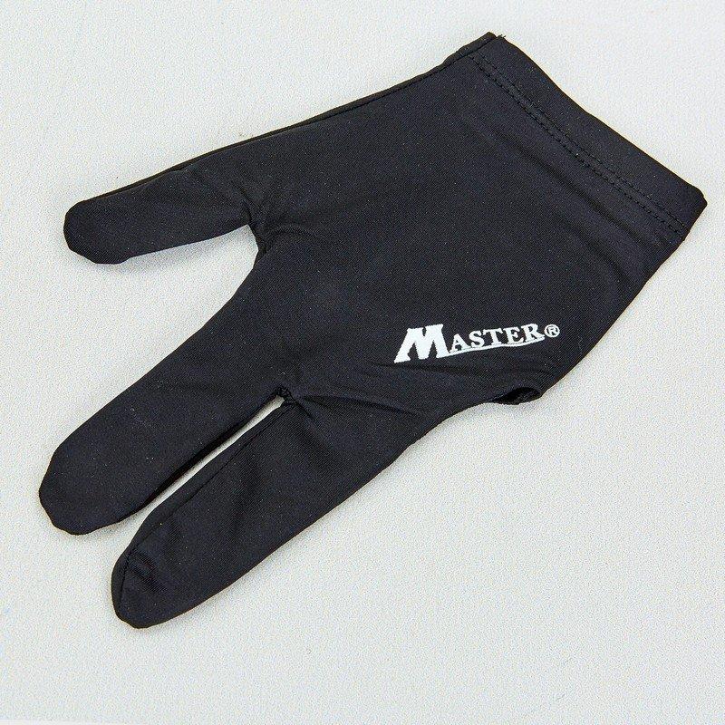 Перчатка бильярдная (1шт) MASTER (нейлон, эластан, черный, в уп.-2шт, цена за 1шт)