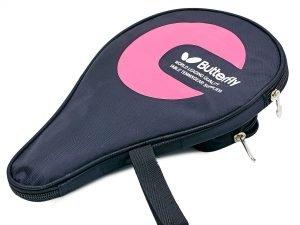 Чехол на ракетку для настольного тенниса BUTTERFLY (полиэстер, цвета в ассортименте, р-р 30х21см) - Цвет Розовый