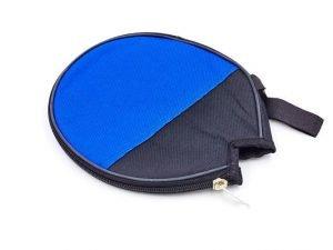 Чехол на ракетку для настольного тенниса 1/2 RECORD (полиэстер, сине-черный, р-р 17х18см)