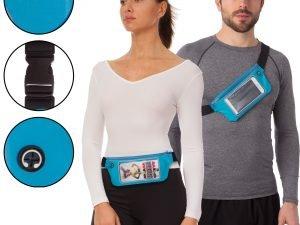 Чехол-сумка на пояс для бега RUNNING WAISTPACK (неопрен, цвета в ассортименте) - Цвет Голубой