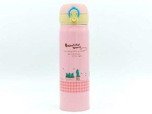 Бутылка-термос для воды SP-Planeta Beautiful World 450 мл (сталь, цвета в ассортименте) - Цвет Розовый