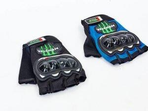 Вело-мото перчатки текстильные усил. протектор MONSTER Energy (отк.пальцы,р-р L-XL, цвета в ассортименте) - XL