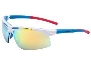Велоочки солнцезащитные (пластик, акрил, цвета в ассортименте) - Цвет Белый