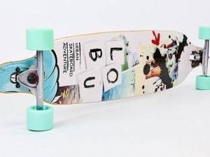 Лонгборд Бордволкинг (скейтборд в сборе) (колесо-PU, р-р деки 104×22,5см, АВЕС-7, цвета в асортименте)