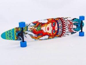 Лонгборд деревянный профессиональный из канадского клена 41in круизер (черный-синий)